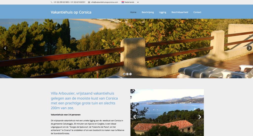 vakantiehuis op Corsica